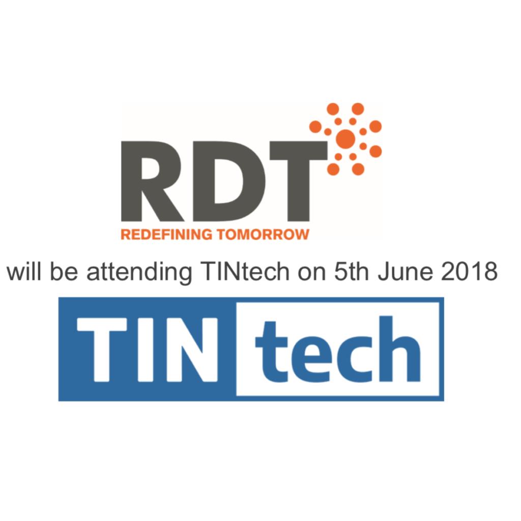 Insurance software specialist RDT will be attending TINtech 2018