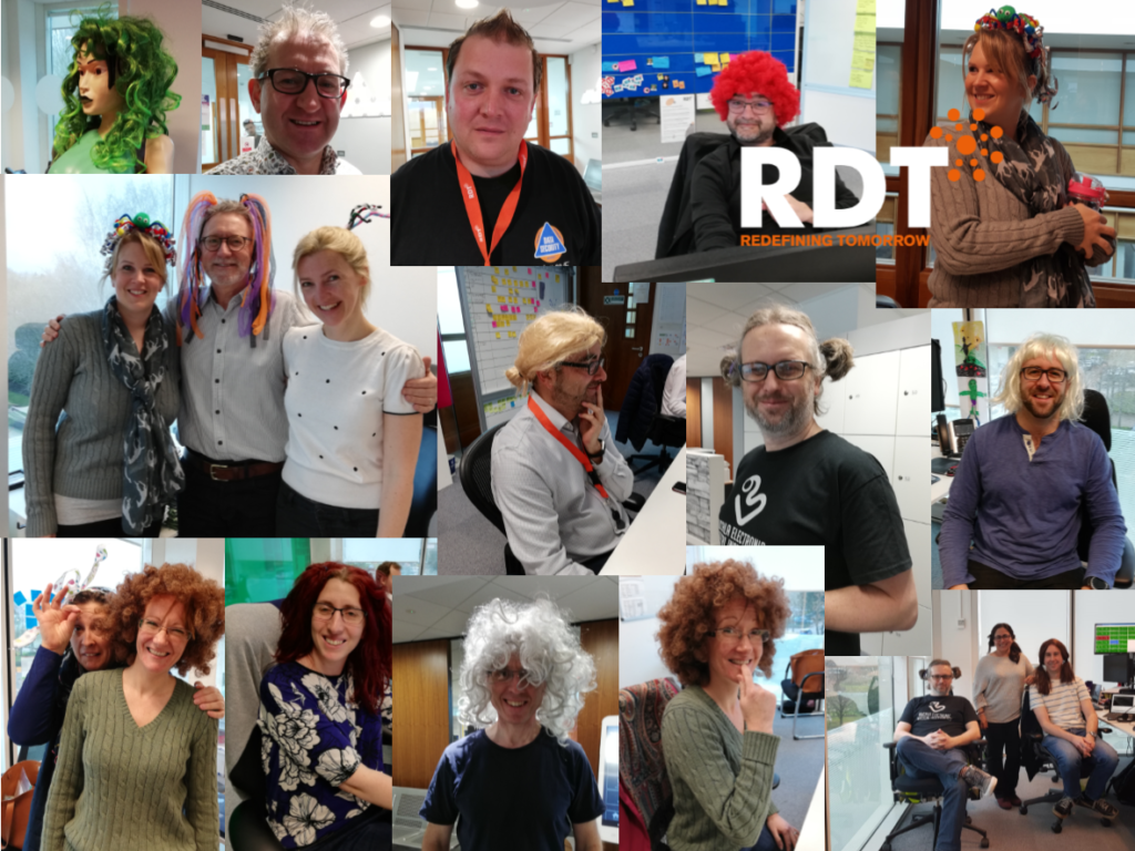 RDT employees dressed up for red nose day