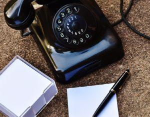 Old fashioned bakerlite telephone