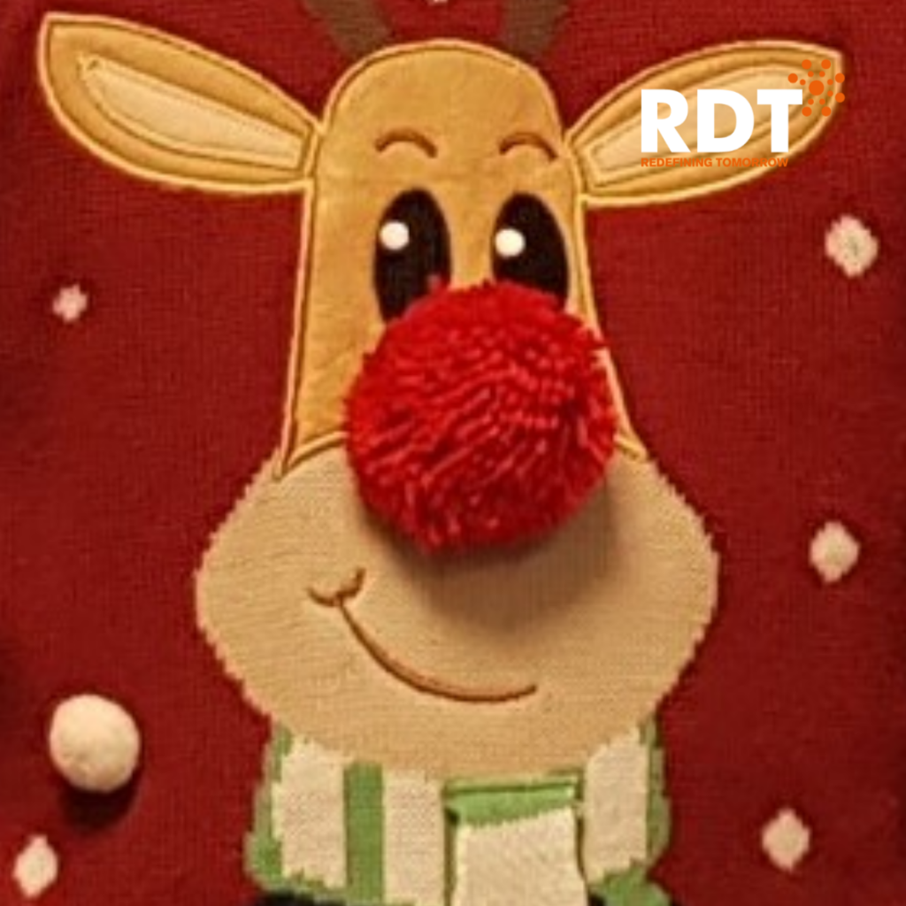RDT employees wearing Christmas jumpers