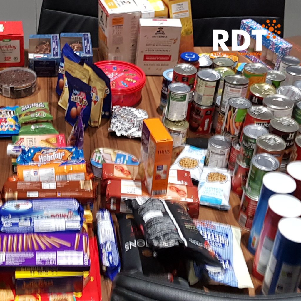 RDT employees held a 'reverse advent' collection for those in need this Christmas